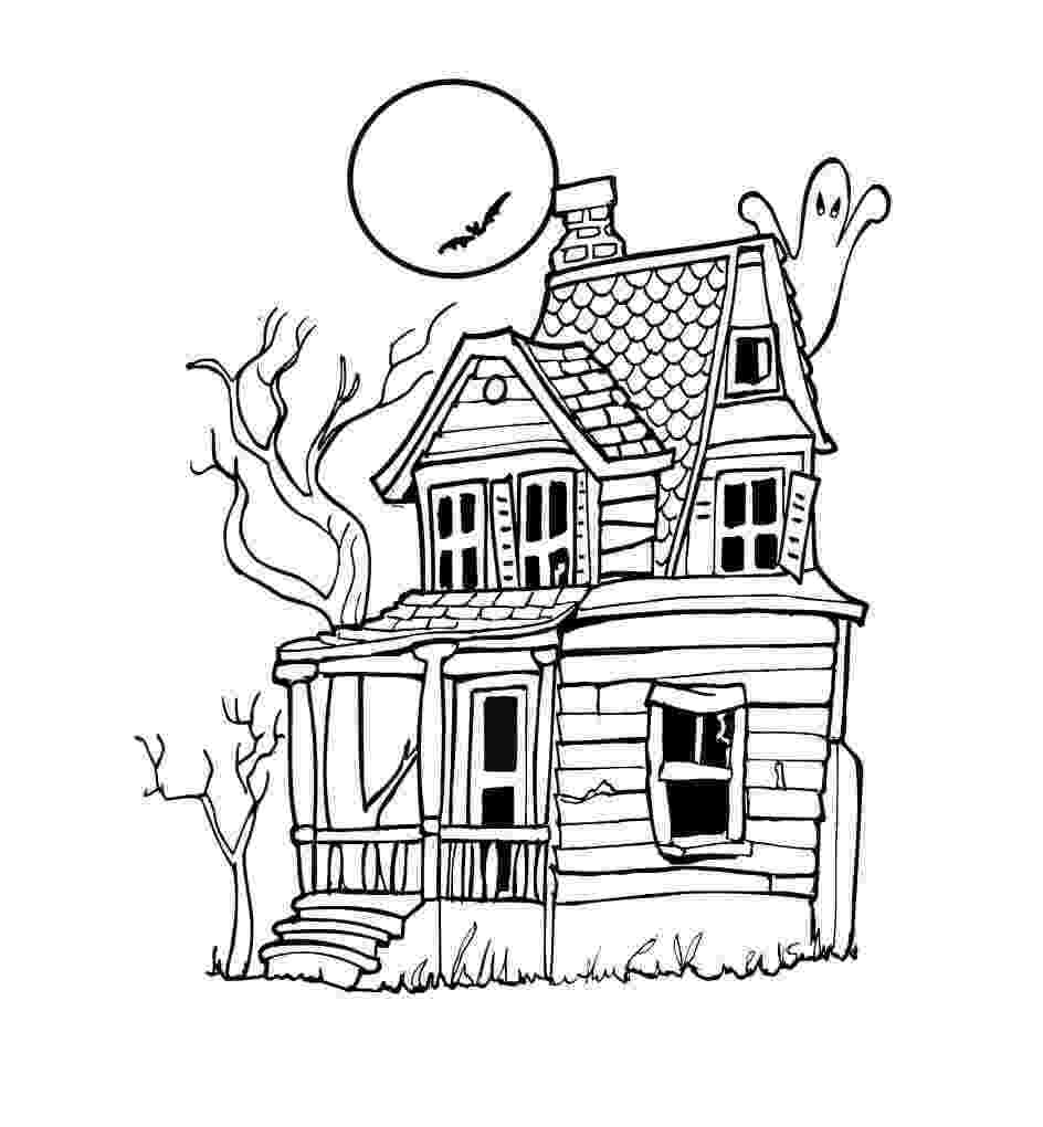 haunted house to color 25 free printable haunted house coloring pages for kids color haunted house to 1 1