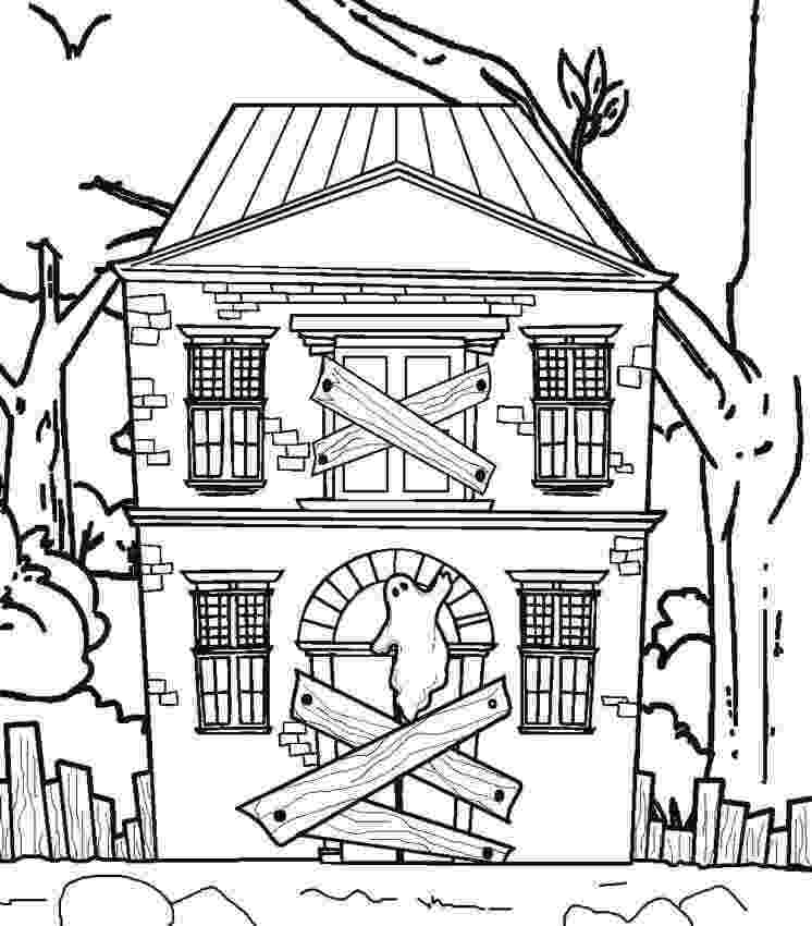 haunted house to color 25 free printable haunted house coloring pages for kids house haunted color to