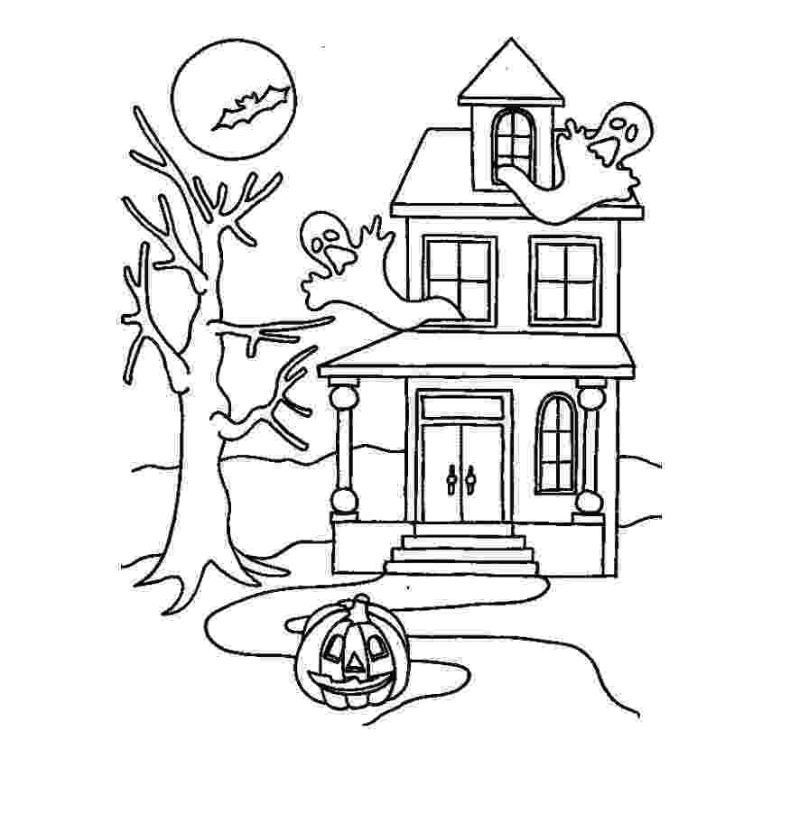 haunted house to color free printable haunted house coloring pages for kids to haunted house color