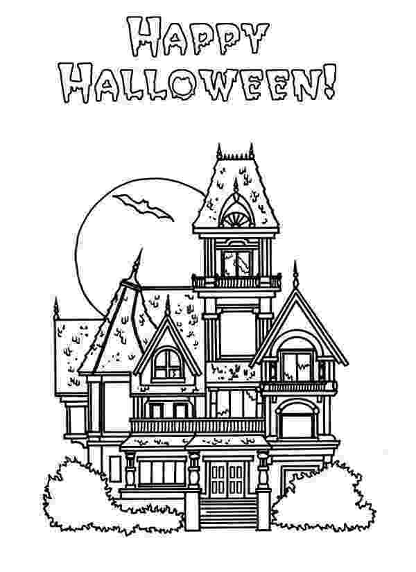haunted house to color halloween haunted house in houses coloring page color luna haunted house to color