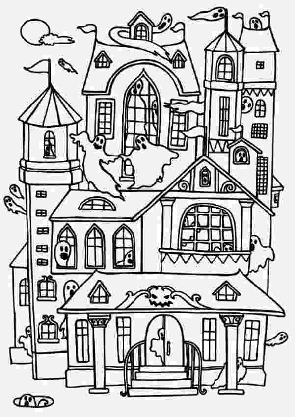 haunted house to color haunted house coloring page free printable coloring pages house to haunted color