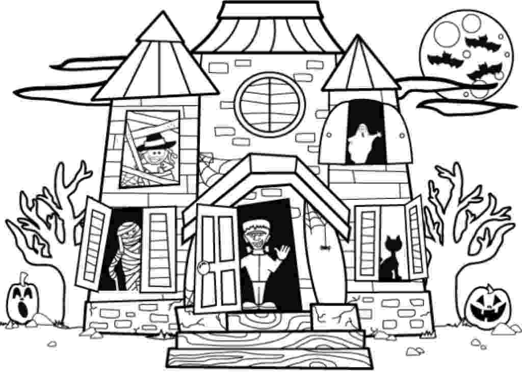 haunted house to color haunted house coloring pages getcoloringpagescom haunted house to color