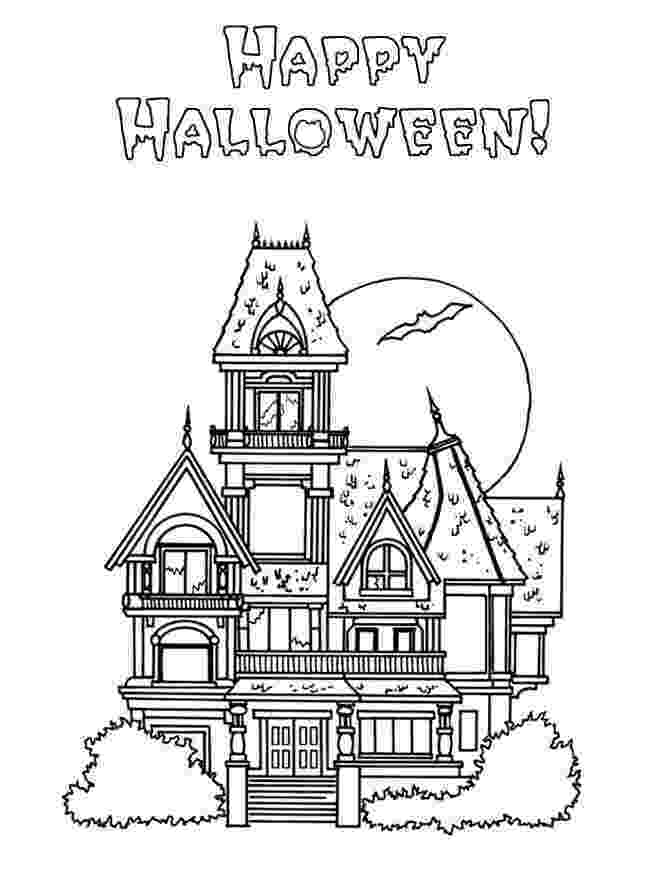 haunted house to color haunted house coloring pages printable free kleurplaten color haunted house to