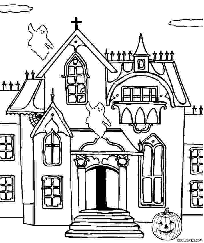 haunted house to color kids printable ghost coloring pages for halloween haunted house to color