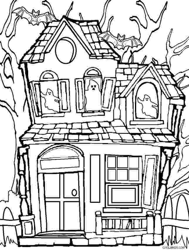 haunted house to color printable halloween coloring pages printable halloween color to haunted house
