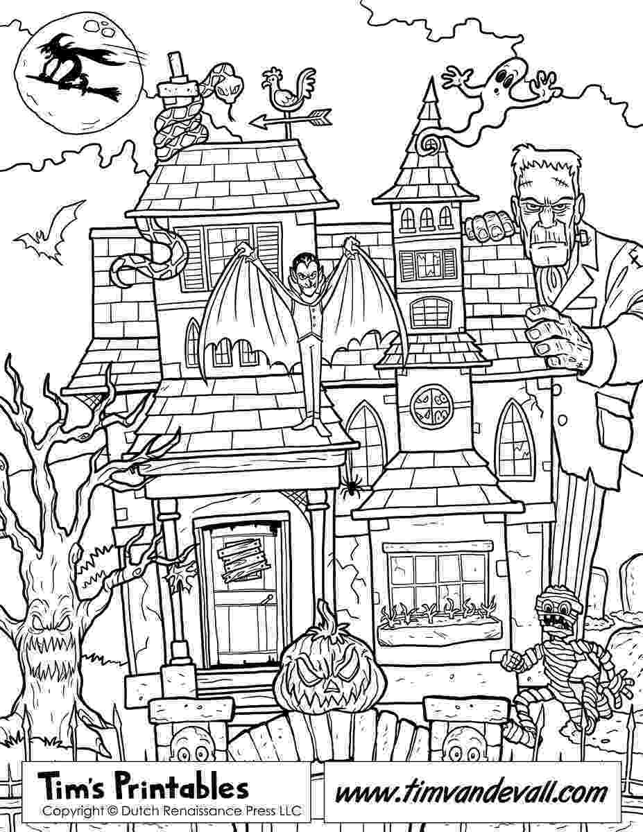 haunted house to color printable haunted house coloring page haunted color house to
