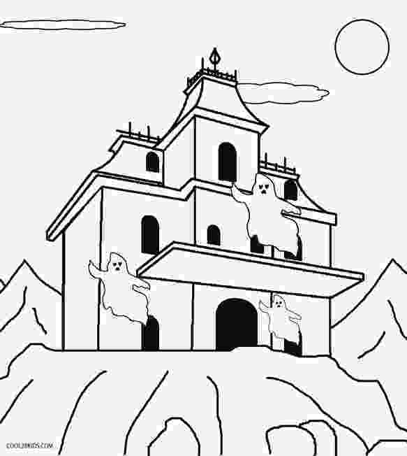 haunted house to color printable haunted house coloring pages for kids cool2bkids house color haunted to