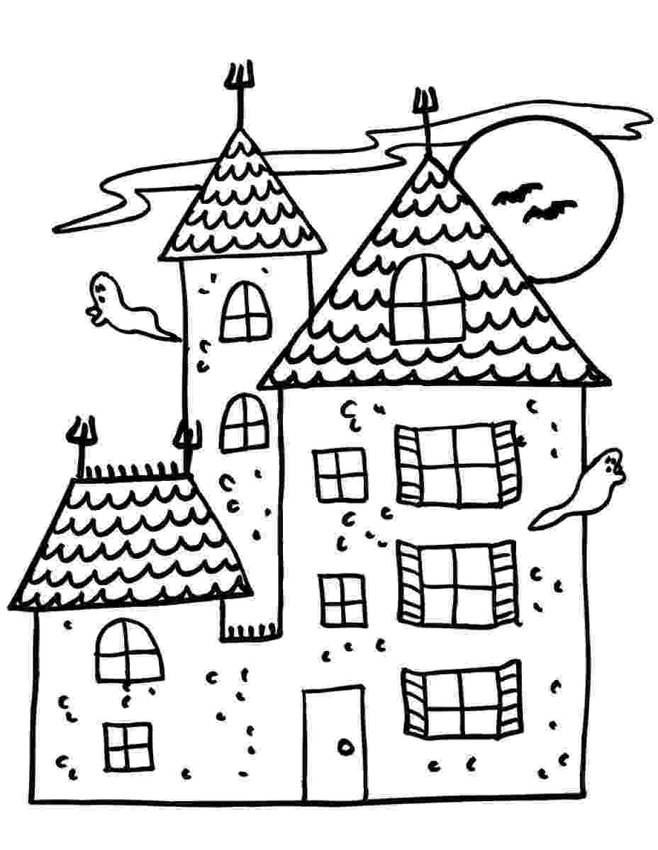 haunted house to color printable haunted house coloring pages for kids cool2bkids house color to haunted