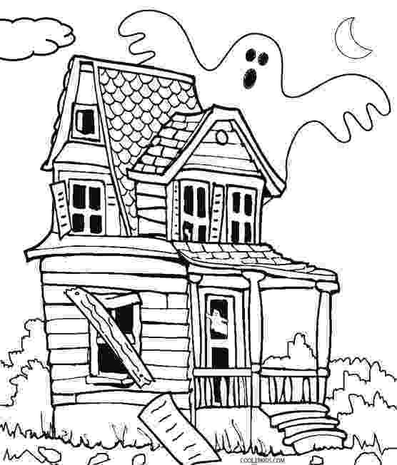 haunted house to color printable haunted house coloring pages for kids cool2bkids to color house haunted