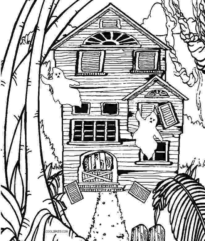 haunted house to color printable haunted house coloring pages for kids cool2bkids to haunted house color