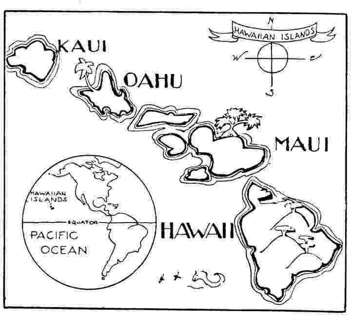 hawaii state map coloring page hawaii state map outline coloring page hawaiian pinterest page state hawaii coloring map