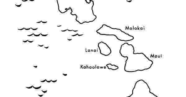 hawaii state map coloring page hawaii state map outline coloring page hawaiian state hawaii map coloring page