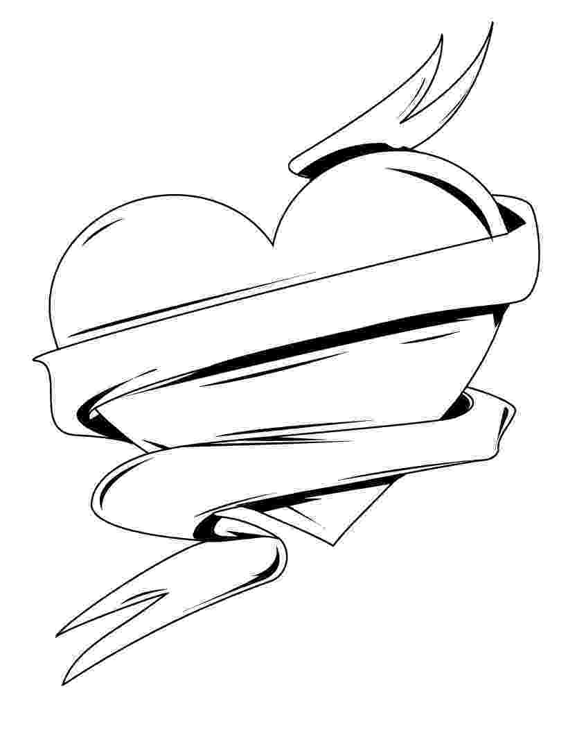 heart coloring pictures hearts coloring pages getcoloringpagescom heart coloring pictures
