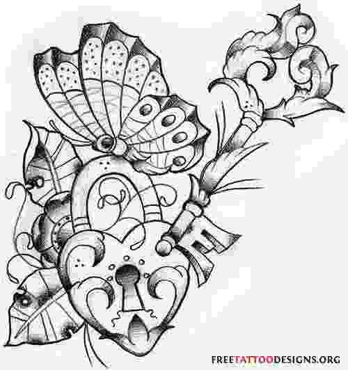 hearts and butterflies 30 heart lock and key tattoo ideas to unlock your love hearts and butterflies