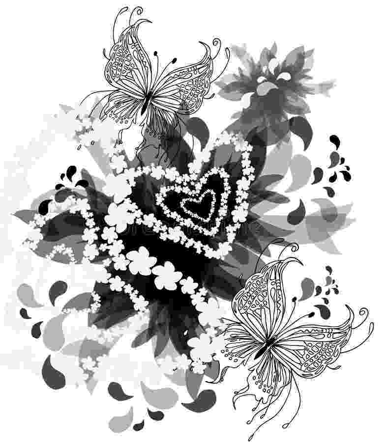 hearts and butterflies black and white background with butterflies stock butterflies hearts and
