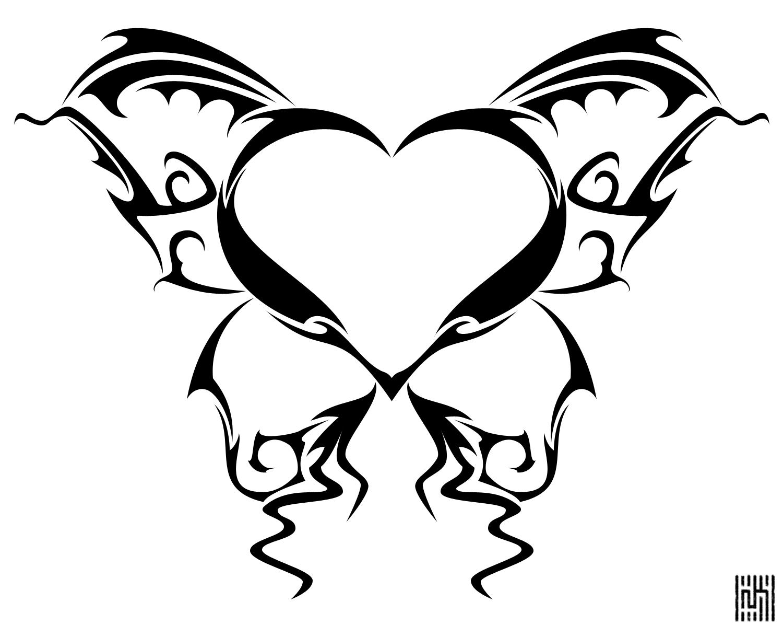 hearts and butterflies butterfly heart tattoo detail by cow41087deviantartcom butterflies and hearts