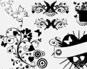 hearts and butterflies free hearts brushes 1001freedownloadscom hearts and butterflies