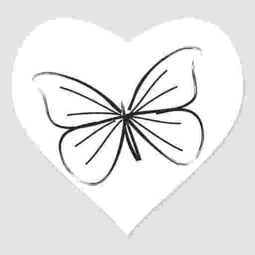 hearts and butterflies simple butterfly line drawing wedding hearts heart sticker hearts and butterflies
