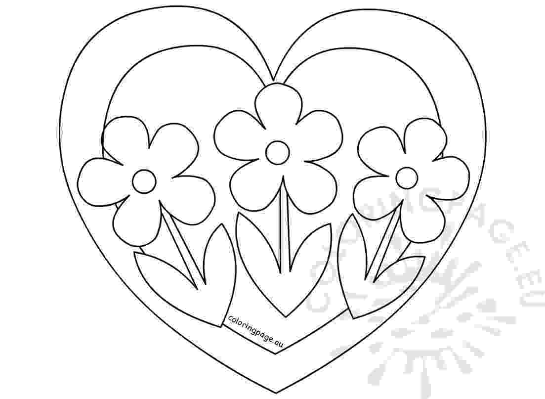 hearts and flowers coloring pages free printable heart coloring pages for kids coloring and flowers pages hearts