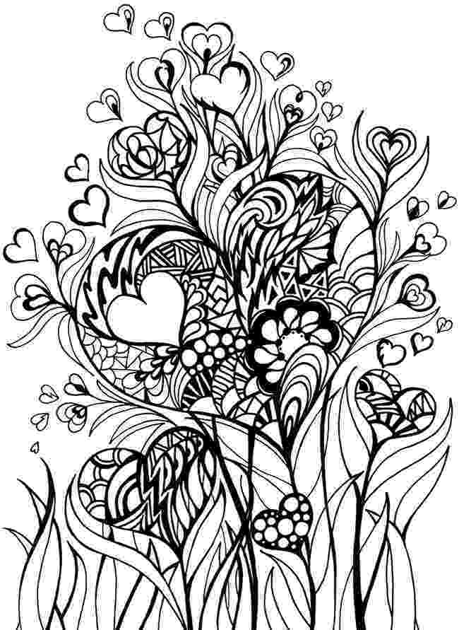hearts and flowers coloring pages free printable heart coloring pages for kids coloring flowers pages and hearts