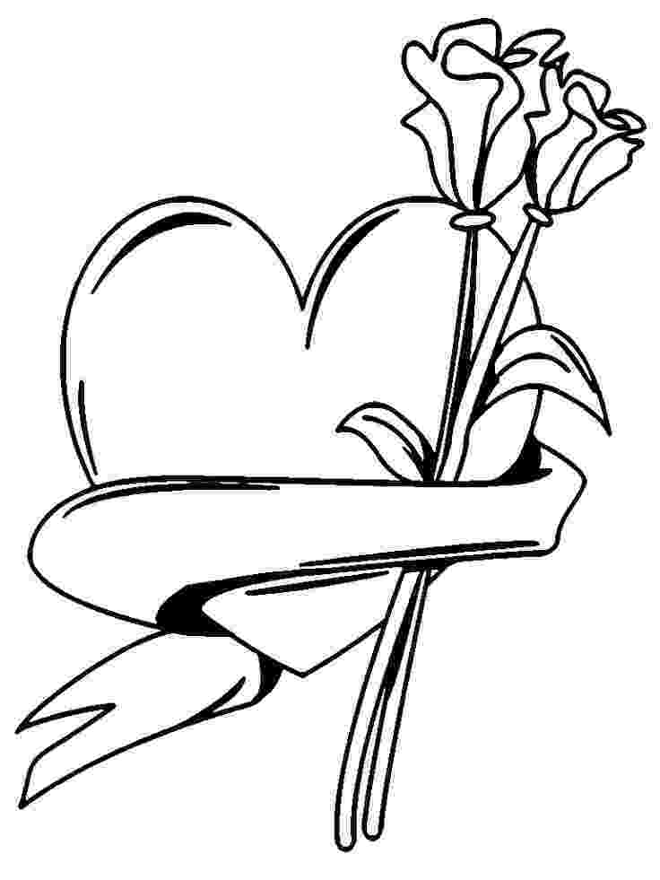 hearts and flowers coloring pages hearts and flowers coloring page pages coloring and flowers hearts