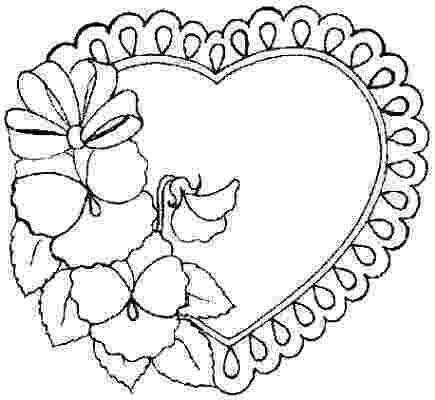 hearts and flowers coloring pages hearts and flowers drawing at getdrawingscom free for pages flowers coloring hearts and