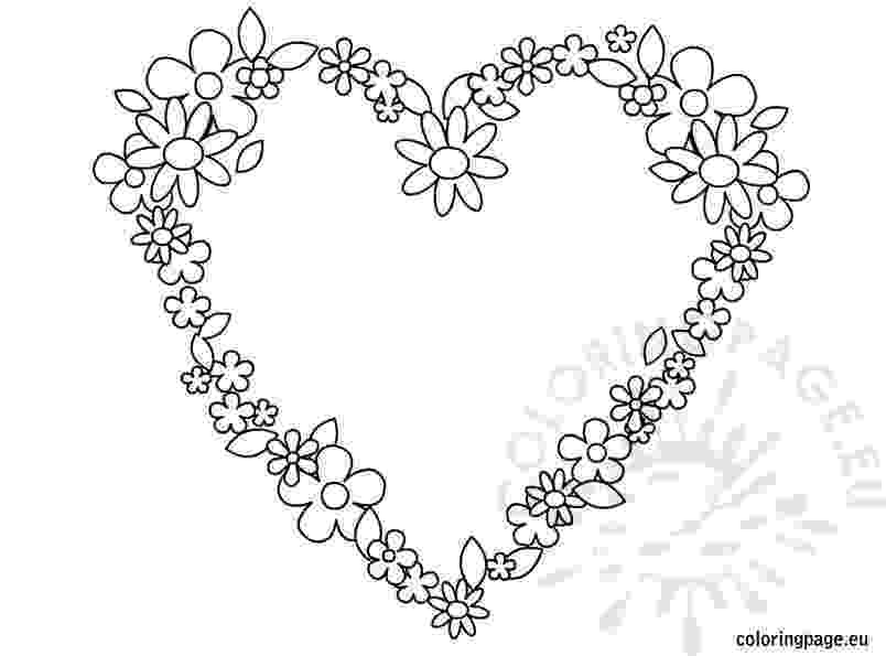 hearts and flowers coloring pages hearts and roses drawing at getdrawingscom free for coloring flowers hearts and pages