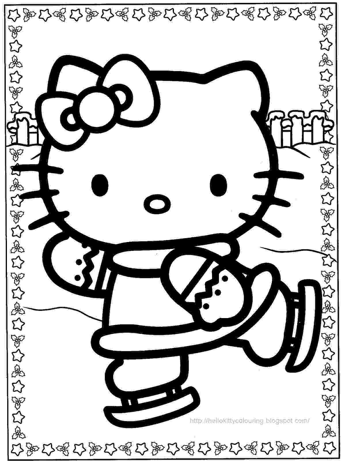hello kitty christmas coloring pages free print christmas hello kitty coloring pages for kids printable pages coloring christmas hello free kitty print