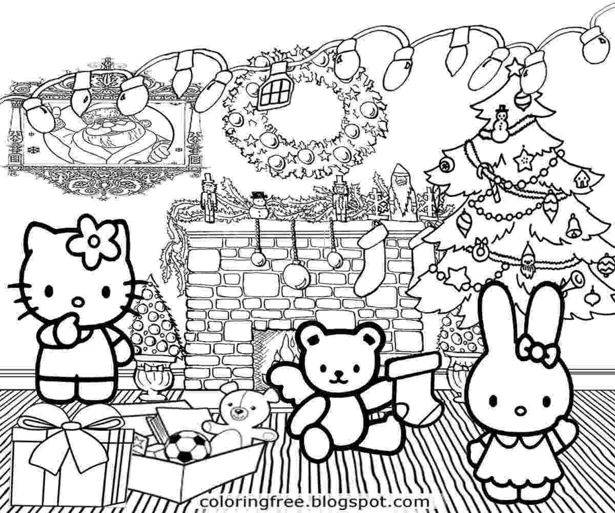 hello kitty christmas coloring pages free print download and print hello kitty coloring pages christmas coloring free print christmas hello kitty pages
