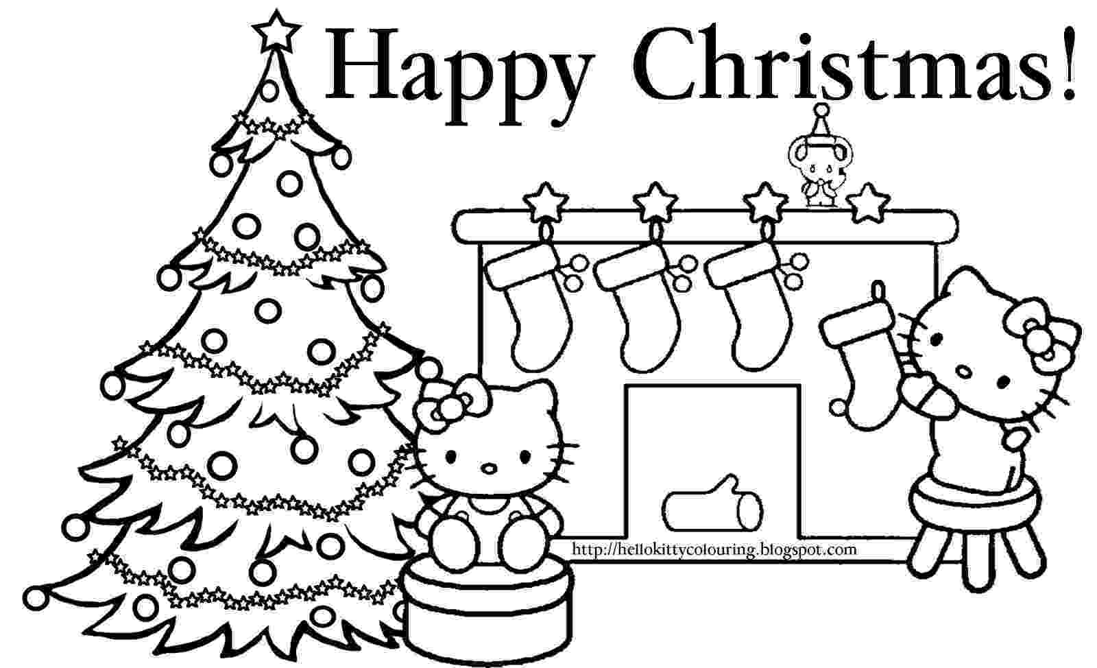 hello kitty christmas coloring pages free print hello kitty christmas coloring pages getcoloringpagescom pages print kitty christmas coloring free hello