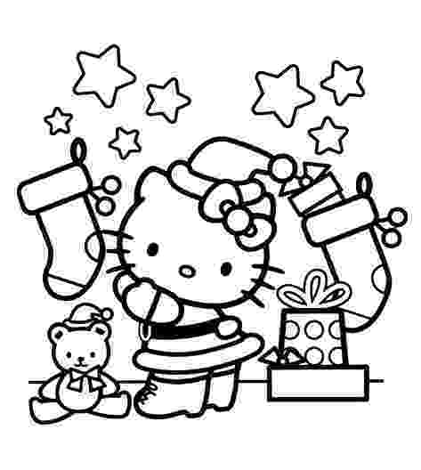 hello kitty christmas coloring pages free print hello kitty christmas coloring pages tip junkie coloring print hello pages christmas kitty free