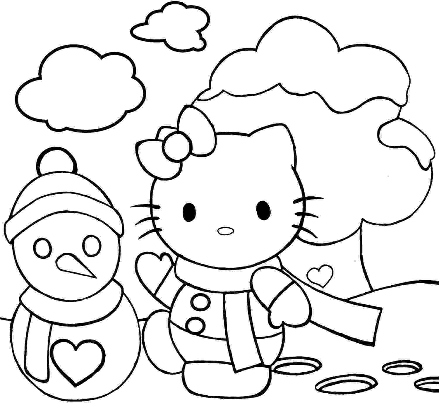 hello kitty christmas coloring pages free print hello kitty coloring pages kitty hello print free pages coloring christmas