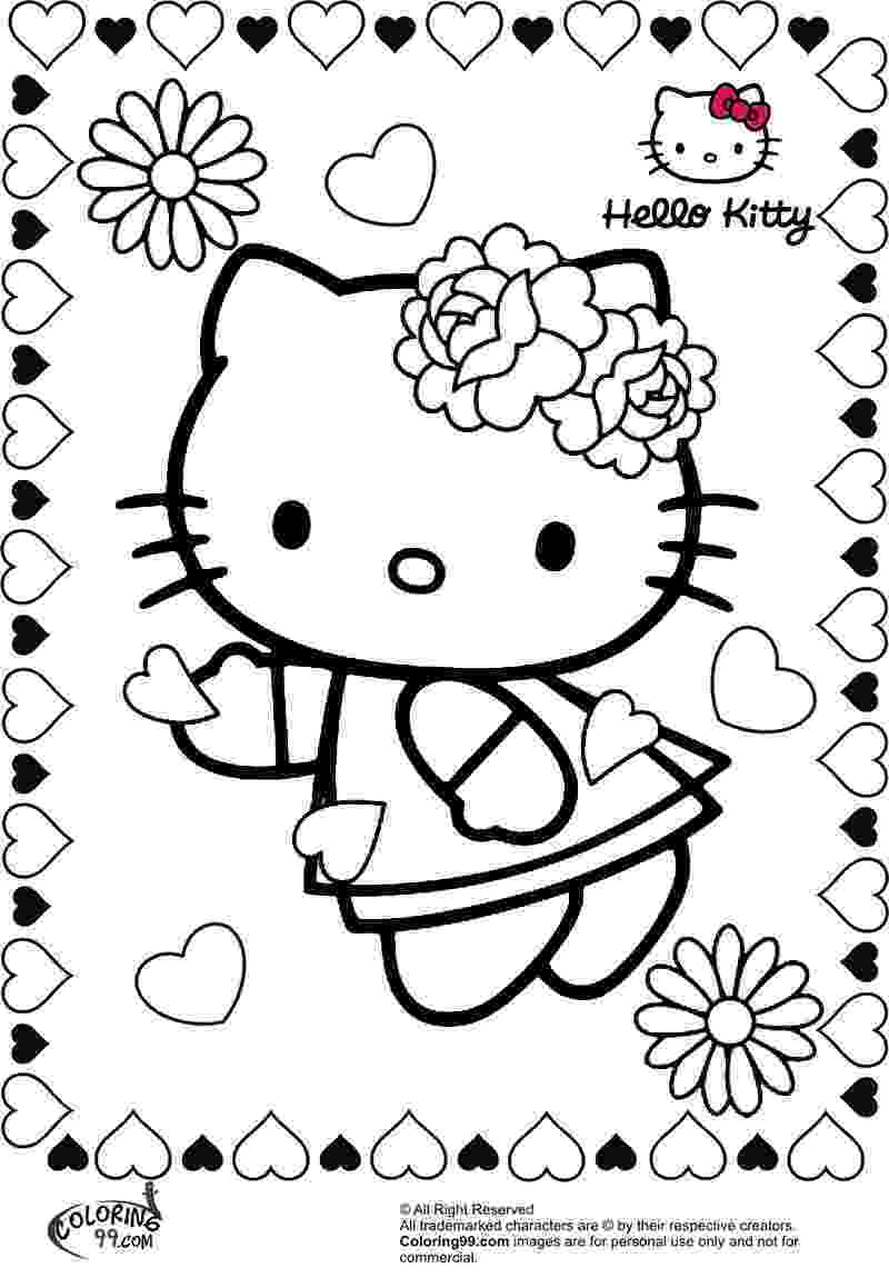 hello kitty color sheets hello kitty coloring pages hello kitty sheets color