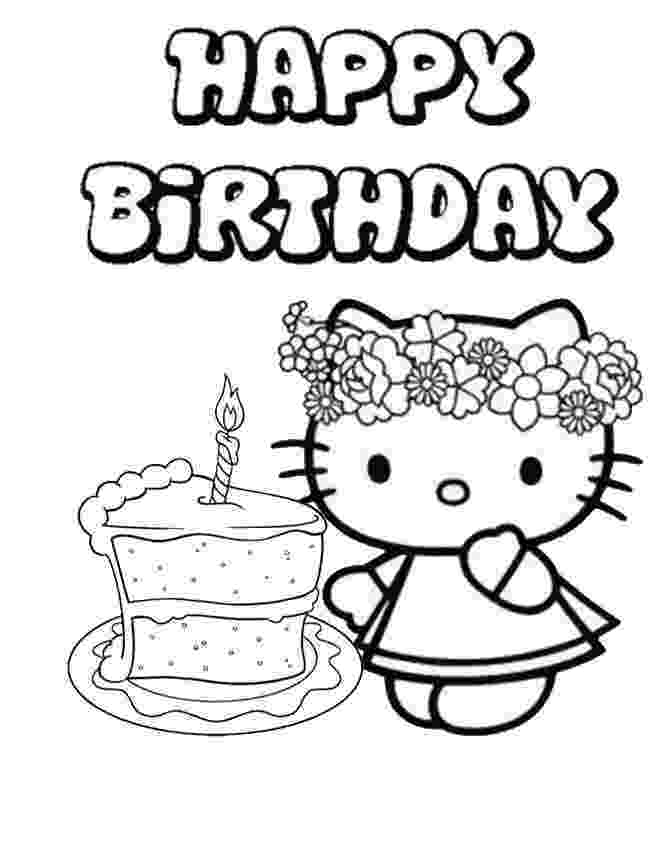 hello kitty happy birthday coloring pages hello kitty birthday coloring pages to print hello kitty happy pages hello kitty birthday coloring