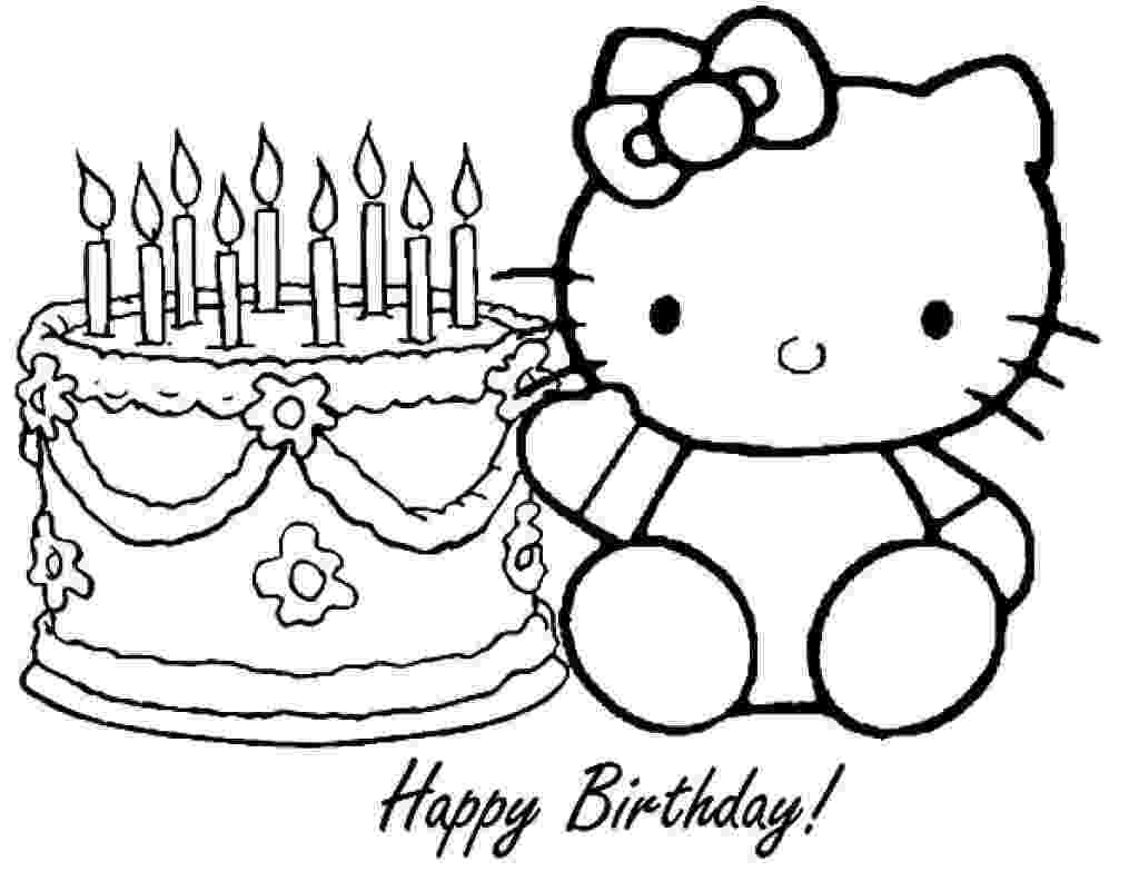 hello kitty happy birthday coloring pages hello kitty coloring pages archives coloring kitty birthday pages happy hello