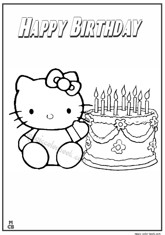 hello kitty happy birthday coloring pages hello kitty plane and birds birthday coloring page h m kitty pages hello coloring birthday happy