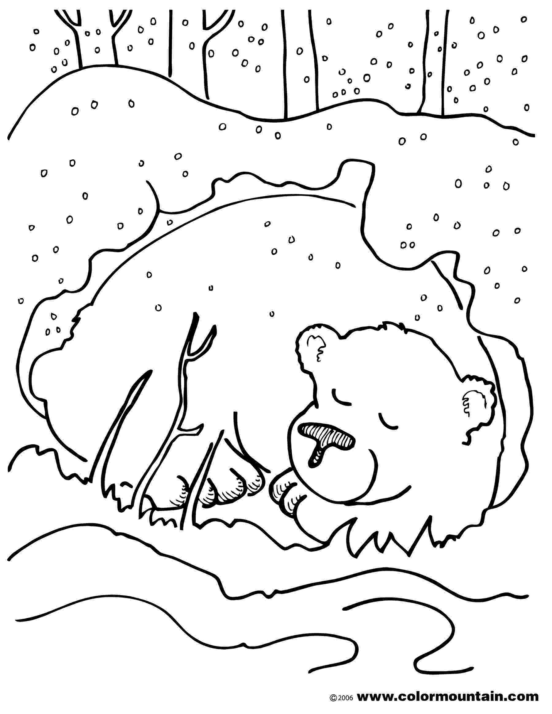 hibernation coloring pages itsy bitsy learners animals in winter printables coloring pages hibernation