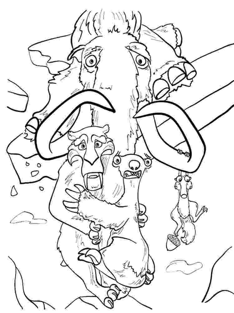 hielo para colorear ice age coloring pages download and print ice age hielo para colorear