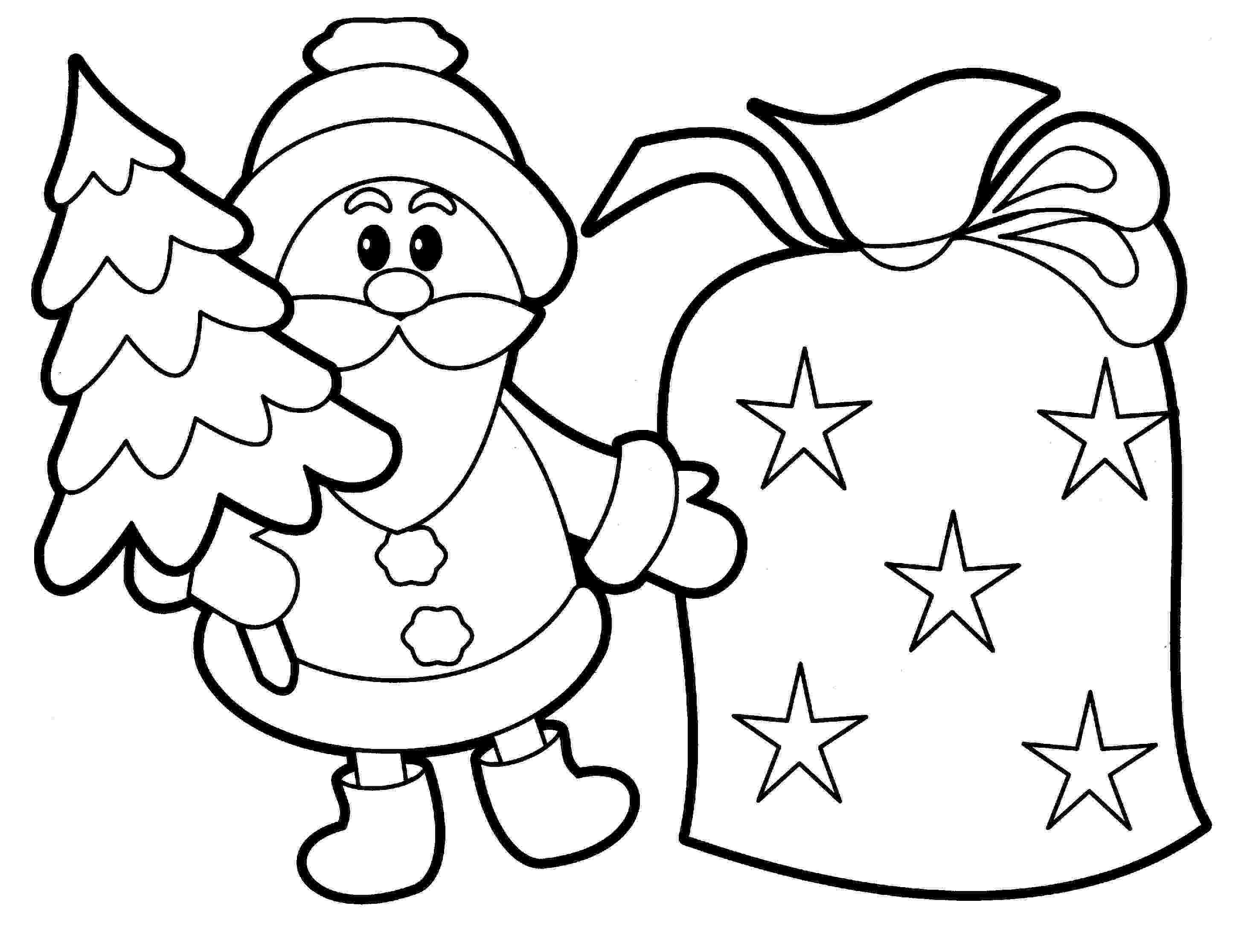 holiday pictures to color christmas coloring pages wallpapers9 to holiday pictures color