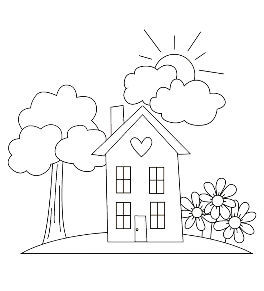 home coloring page cute 3d home coloring page wecoloringpagecom coloring page home