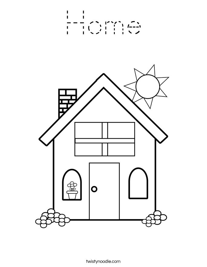 home coloring page house coloring pages to download and print for free page home coloring