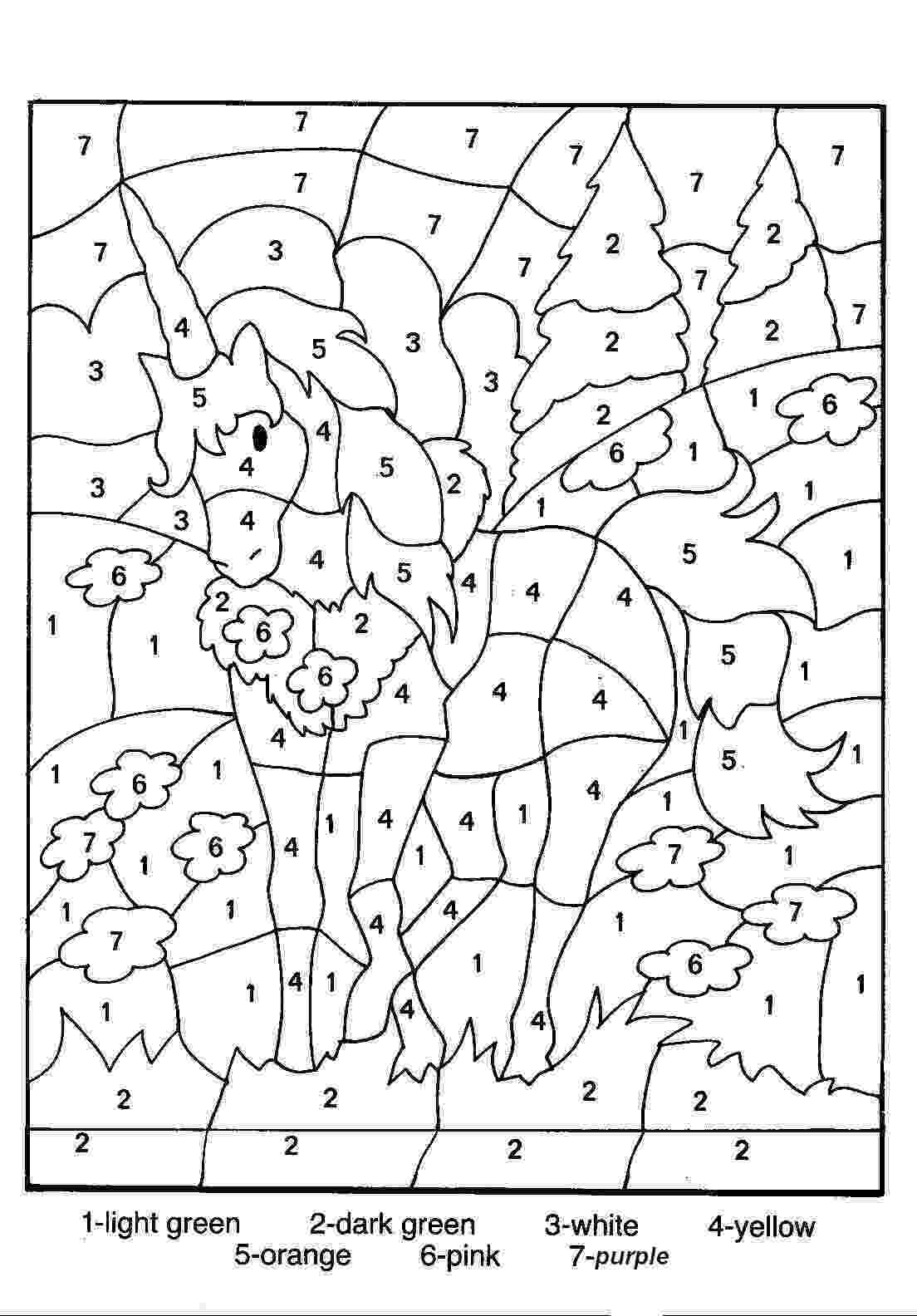 horse color by number easy color by numbers coloring pages getcoloringpagescom horse color number by