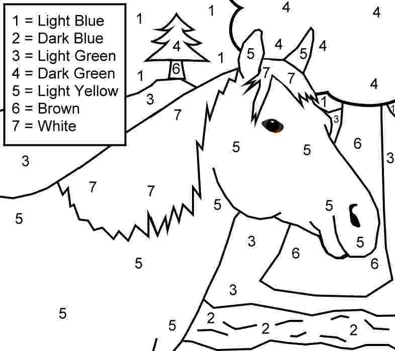 horse color by number horse and farm color by numbers printable page fun number by horse color