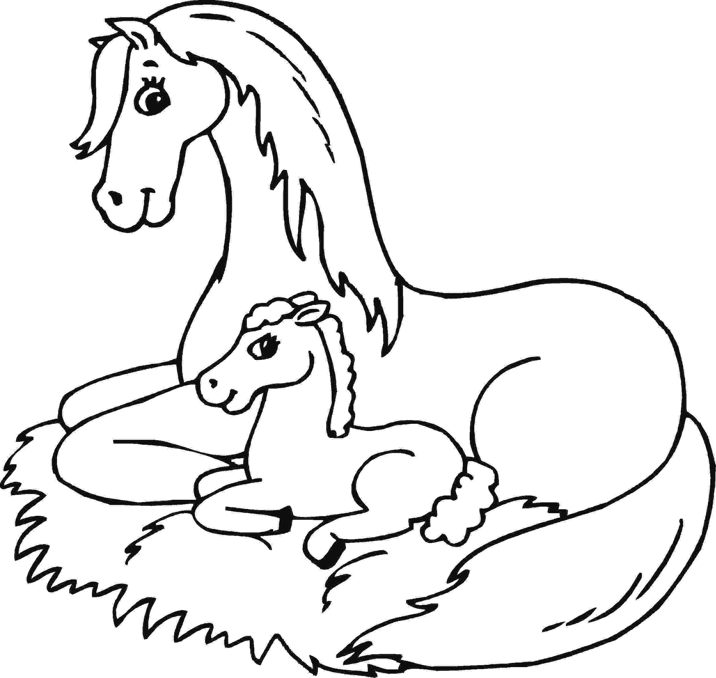 horse colouring baby horse coloring pages coloring pages to download and colouring horse