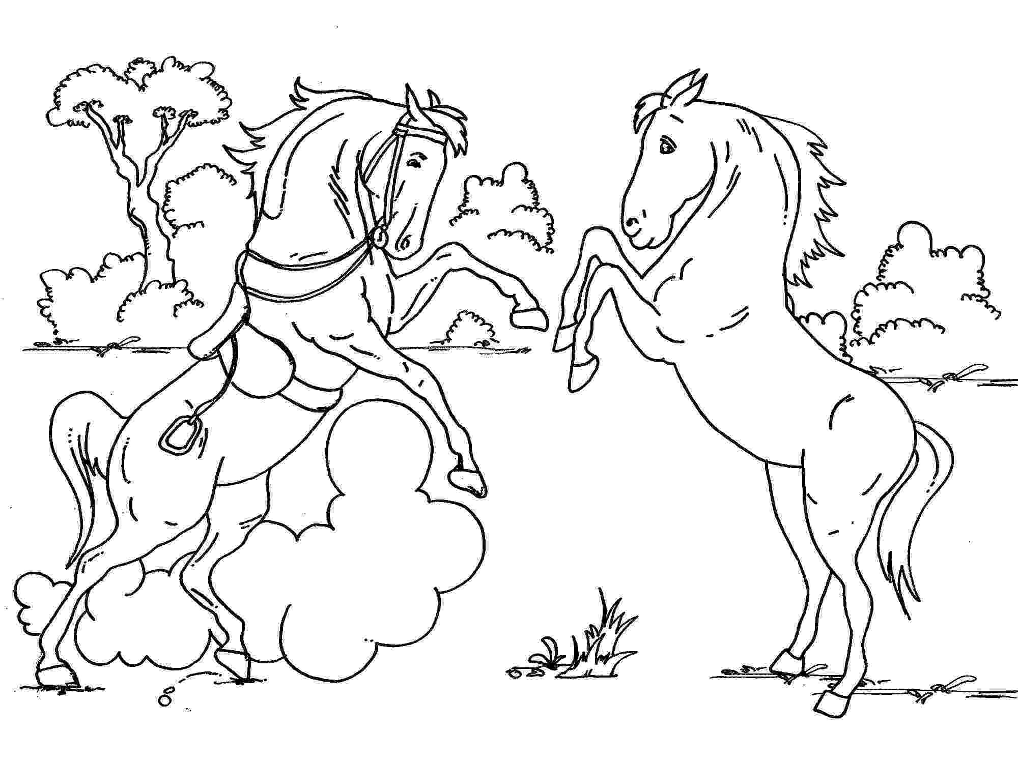 horse colouring coloring town colouring horse 1 1