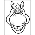 horse face coloring page horses coloring pages coloring face page horse