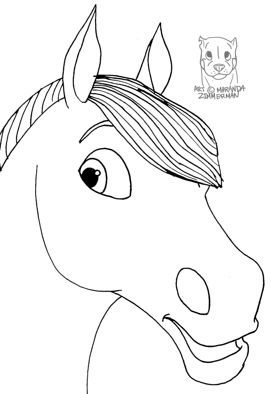 horse face coloring page horses face drawing at getdrawingscom free for personal page face horse coloring