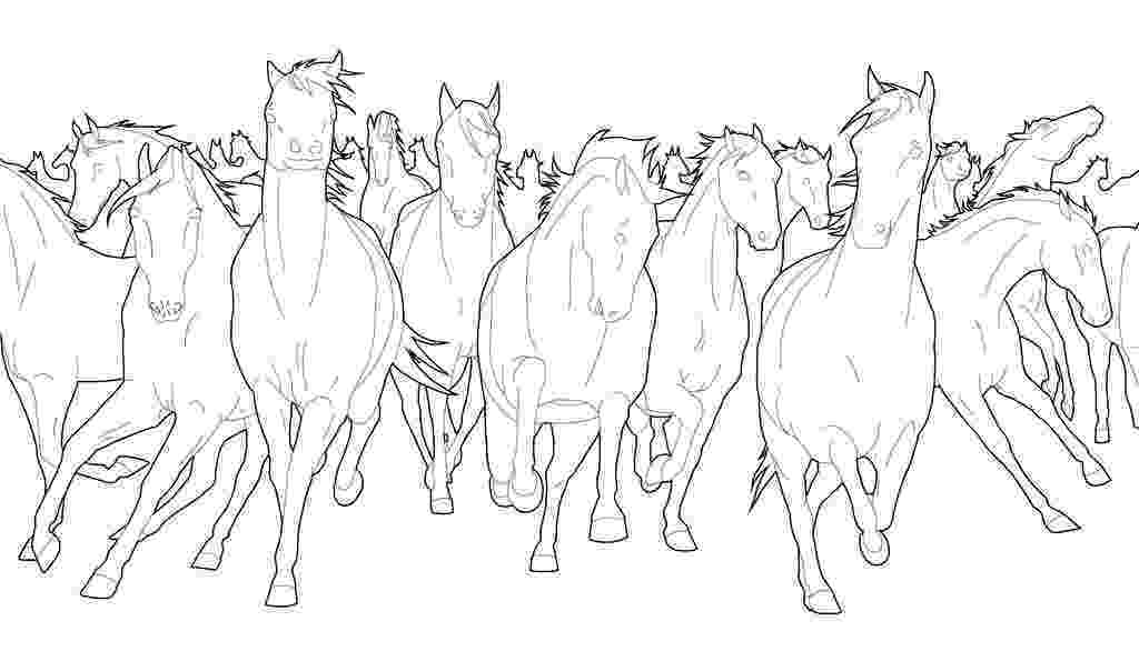 horse herd coloring pages wild horses coloring pages getcoloringpagescom horse coloring pages herd
