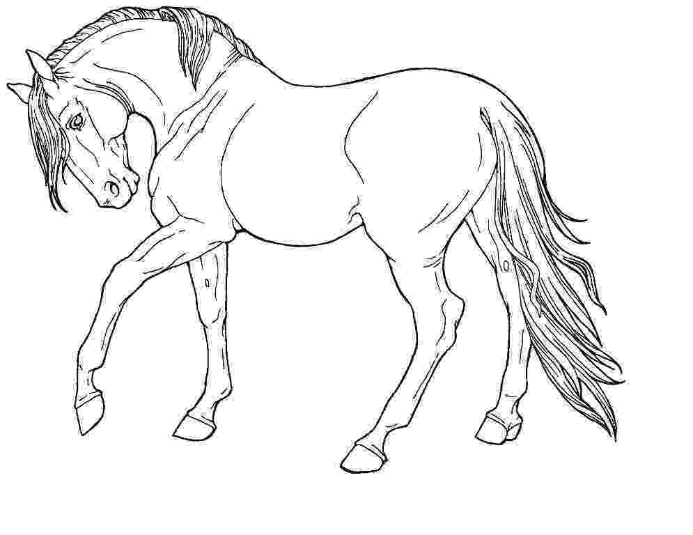 horse printables coloring page horse on a farm horse printables