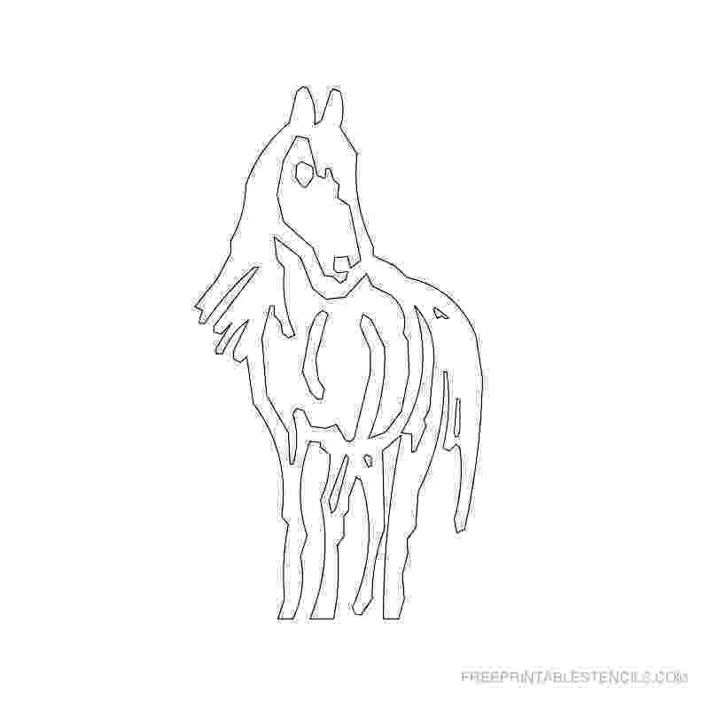 horseshoe pattern printable horse head pattern use the printable outline for crafts horseshoe printable pattern